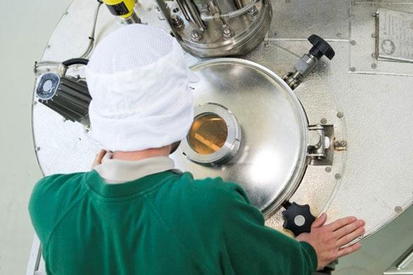 Entgasung von CO2-Extrakt in Vakuumanlage